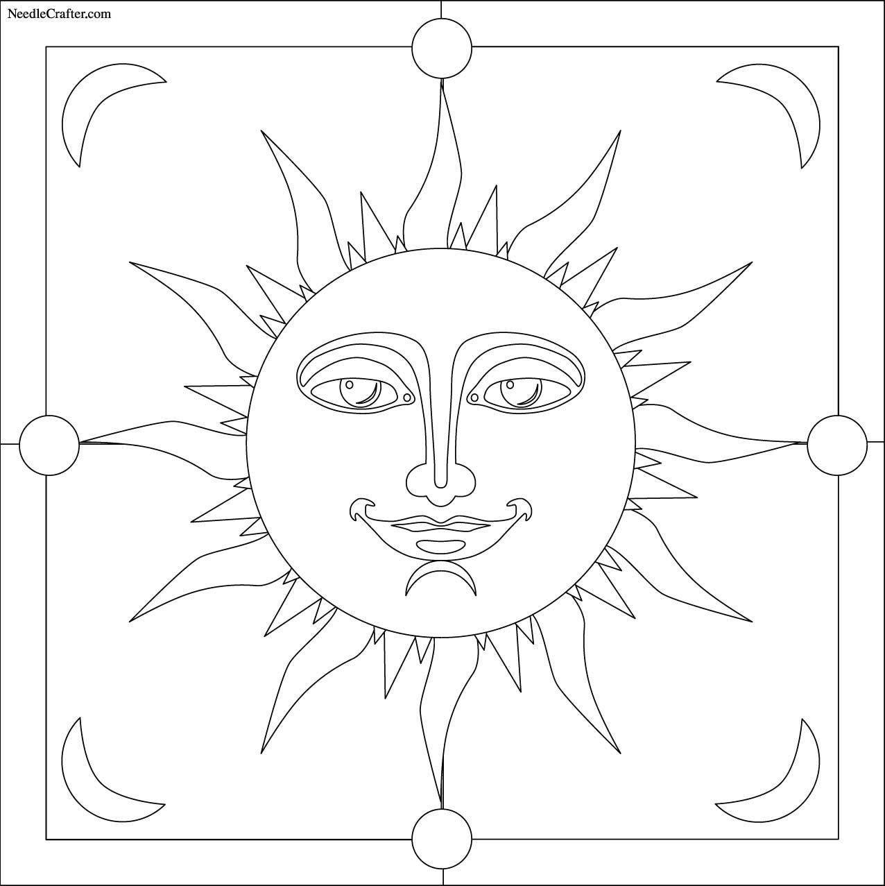 Free: Sun embroidery pattern