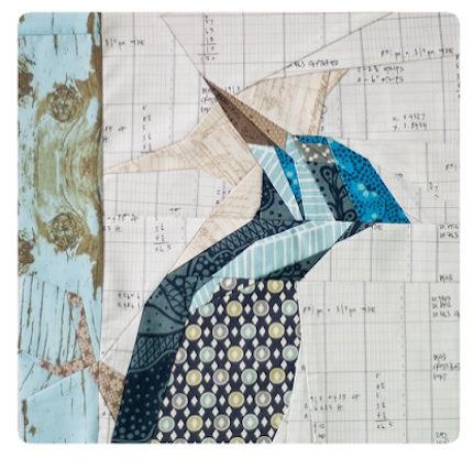 woodpecker 2 paper pieced