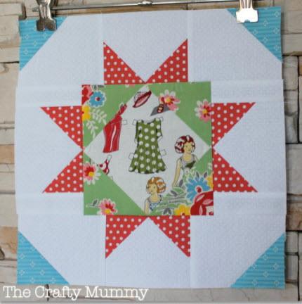 Megan's Star block Crafty Mummy