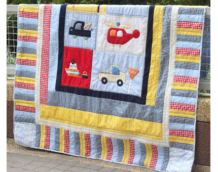 crib quilt to twin size tutorial