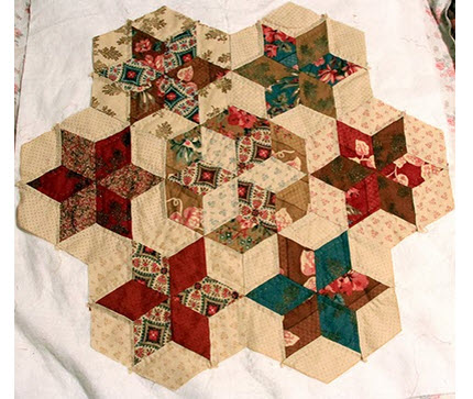 hexagon stars hand pieced Hallies