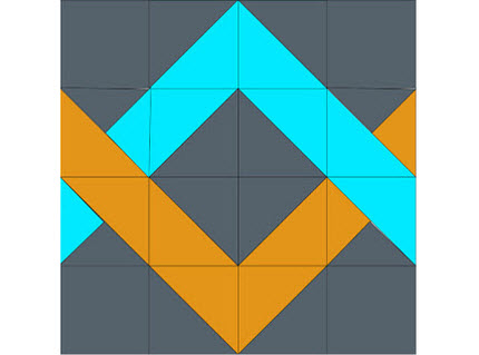 woven chevron block tutorial