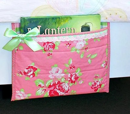 quilted book holder bed