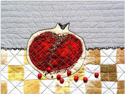 Bozena Pantry Pomegrnate Heart Print