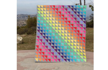 Rainbow quilt Michelle Buttontree Lane