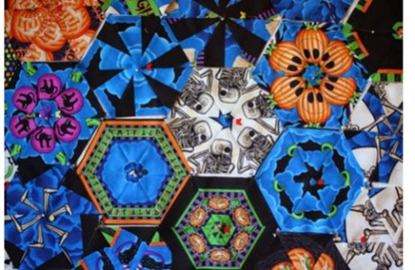 Clever use of Halloween Panels for Quilt