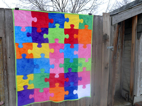 Cuddle Puzzle Quilt tutorial and pattern