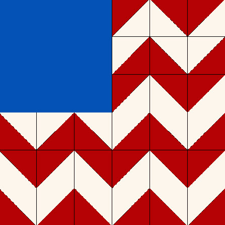 Free Quilt Patterns And Blocks : Free pattern: Wild Goose Flag quilt block Quilting