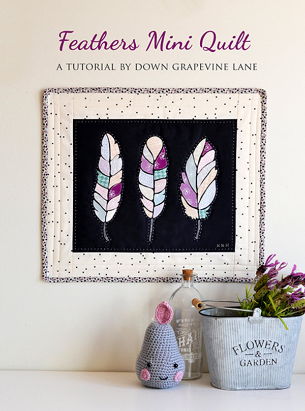 Feathers Mini Quilt Tutorial