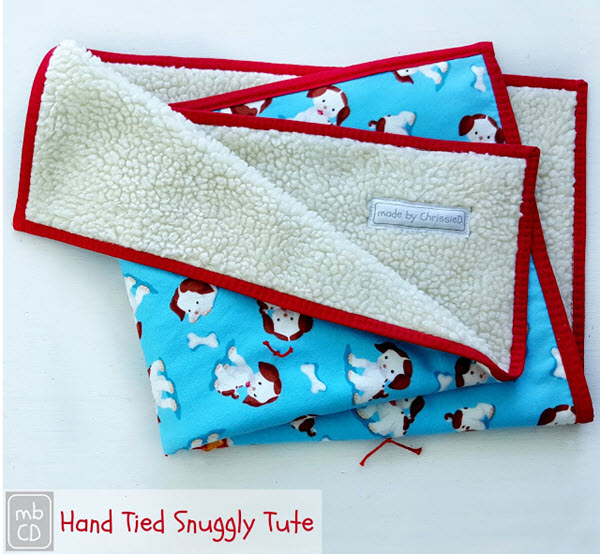Snuggly Baby Blanket Tutorial Made by ChrissieD