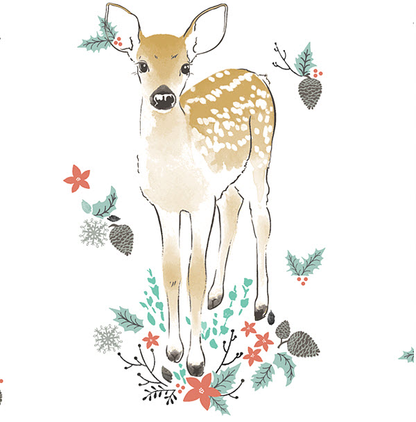 Winter Fawn Digital Fabric Hawthorne Threads
