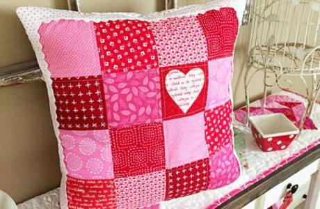 Tutorial: Valentine pillow with heart