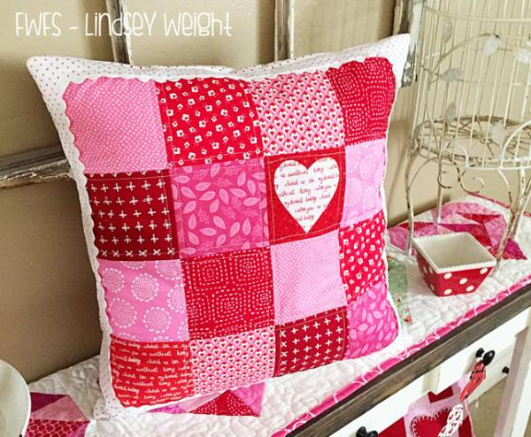 valentine heart pillow