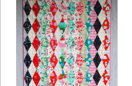 Free pattern: Argyle Christmas Quilt