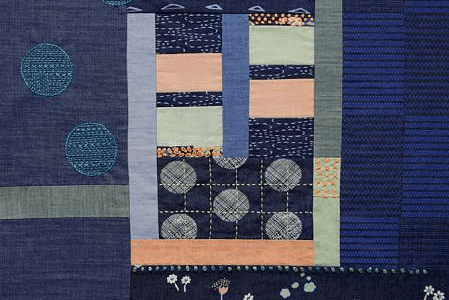 Sue Spargo: InstaStitch Log Cabin Lap Quilt