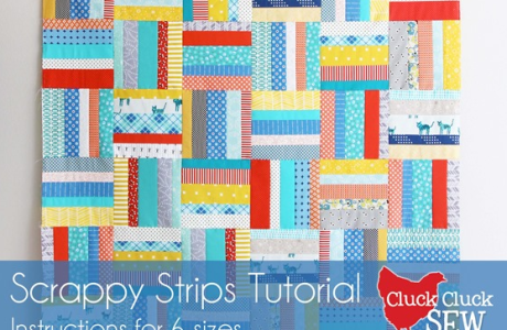 Tutorial: Scrappy strip quilt 6 ways