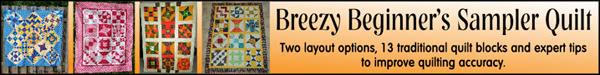 Breezy Beginner's Sampler Quilt