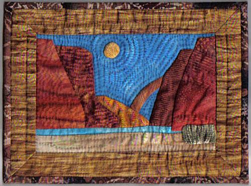miniature Moab landscape quilt
