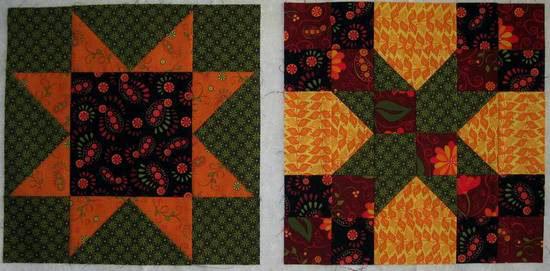 Summer Star Sampler blocks-1-2