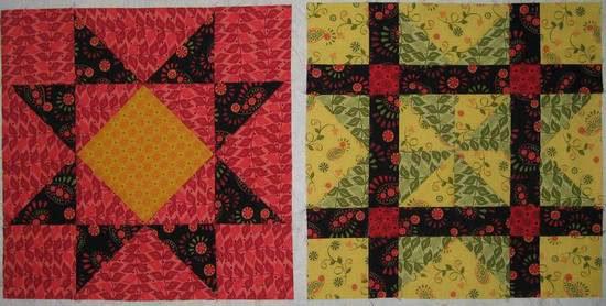 Summer Star Sampler blocks-5-6
