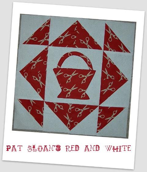 Pat Sloan Christmas block framed