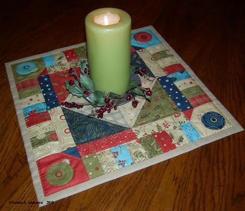 Candlemat finished