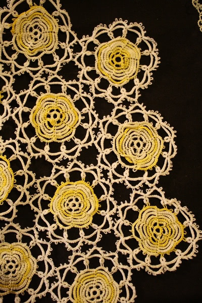 Crocheted doily for Etsy story