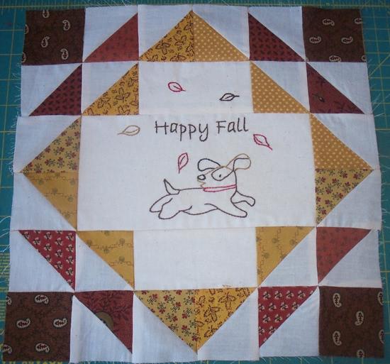 Happy Fall Beagle Block