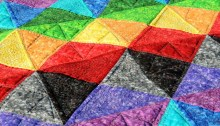 Prismatic Rainbow - Quilting Detail
