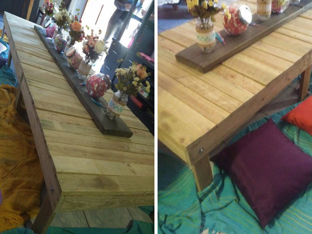 Wood picnic tables for hire