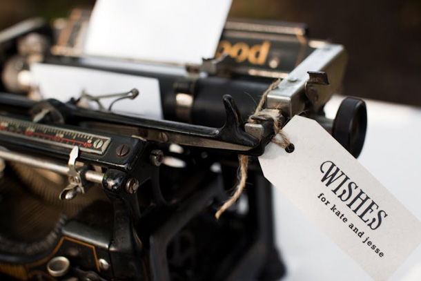 Vintage wedding decor - typewriter