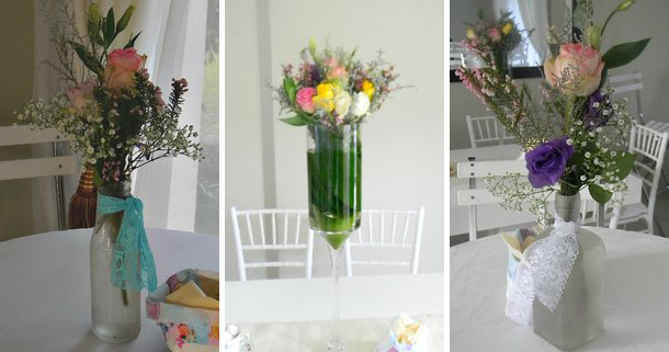 Pastel baby shower - flowers
