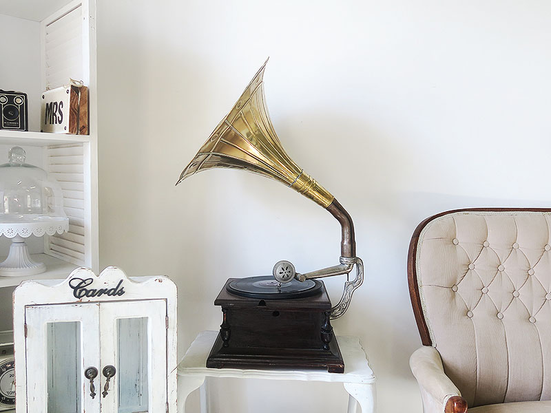 QuirkyParties - gramophone - Side view