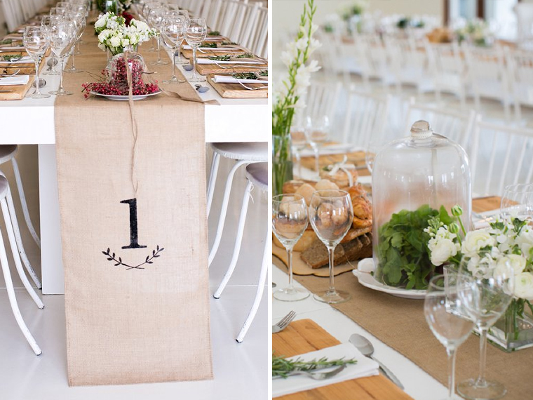 quirkyparties - table runners - cloth hessian