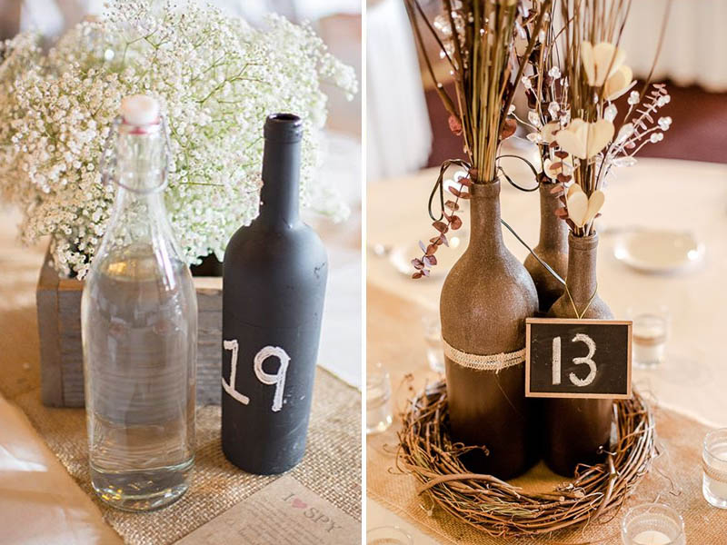 QuirkyParties Bottle Table Numbers Chalk