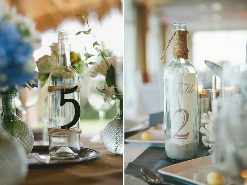 QuirkyParties Bottle Table Numbers Sign