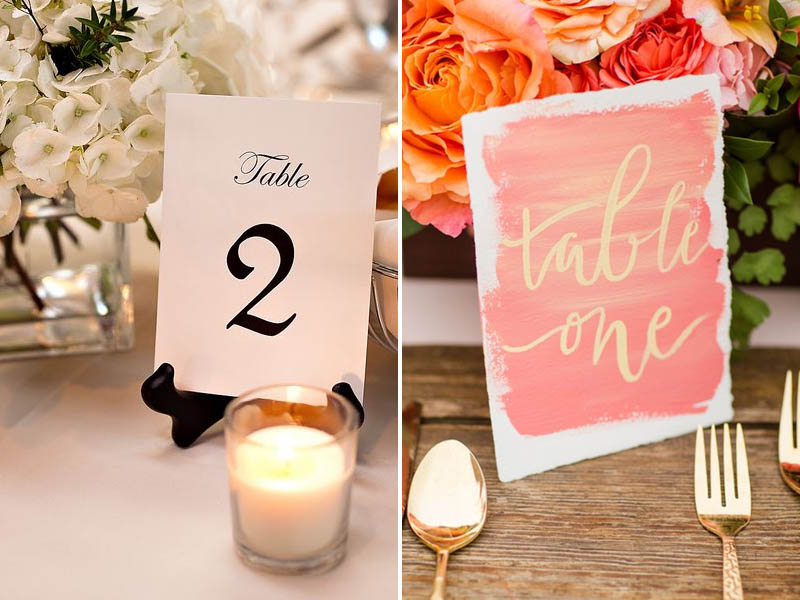 QuirkyParties Table Number Inspiration - Printed