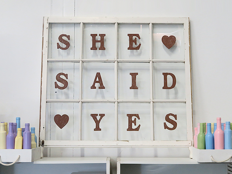 Quirky Parties - Window - She Said Yes - Hire