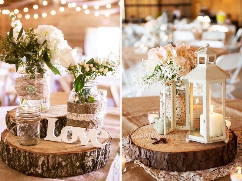 Quirky Parties - Wood Slide Centerpiece