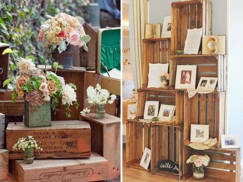 Quirky Parties Rustic Crate Decor