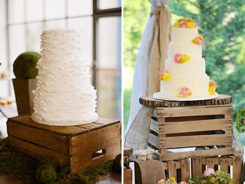 Quirky Parties - Rustic Crate Wedding Cake