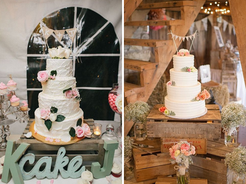 Quirky Parties Rustic Crate Wedding Cake