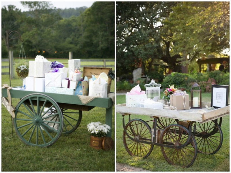 Wagon for wedding gifts - Quirky Parties