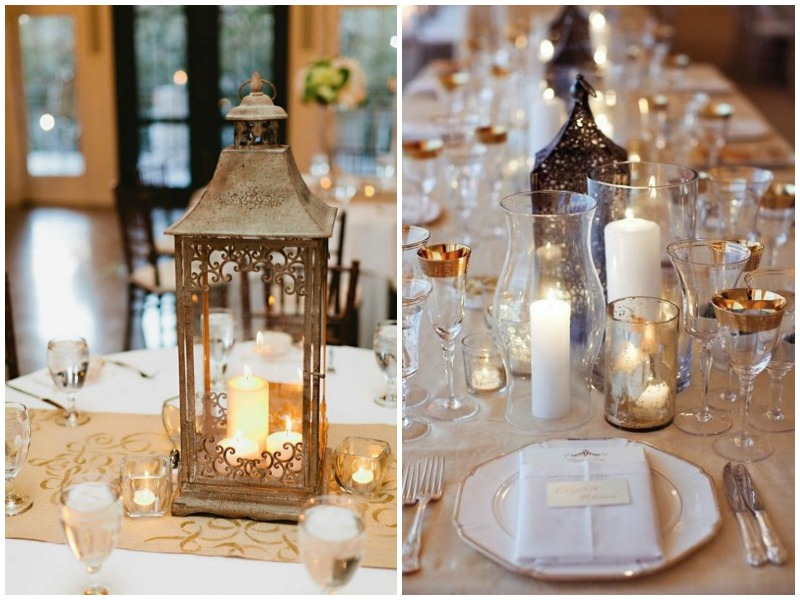 Centerpiece without flowers - lanterns - QuirkyParties