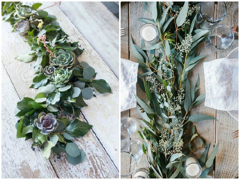 Kale and greenery garland - Quirky Parties