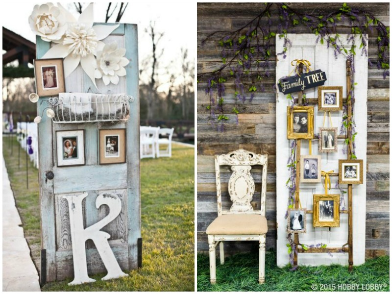 Vintage doors for family photos - Quirky Parties