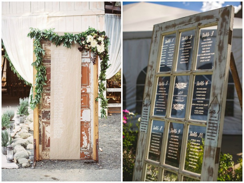 Vintage doors - seating plan= Quirky Parties