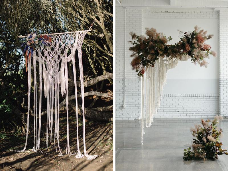 Wedding Backdrops Arches - Macrame