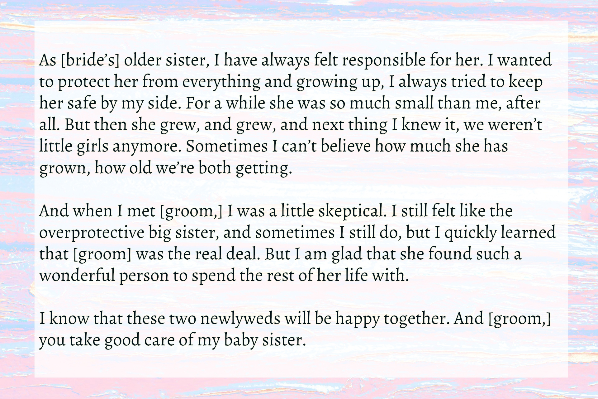 Fullsize Of Maid Of Honor Speech