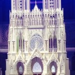 Yes, it is a model; the real thing is hidden behind scaffolding